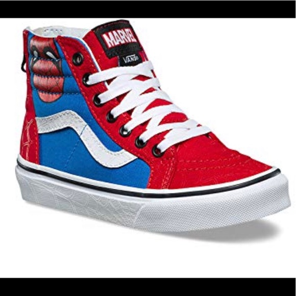 Vans X Marvel Spiderman Kids Shoe Size
